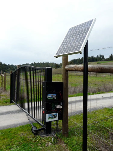 Solar Powered Gate